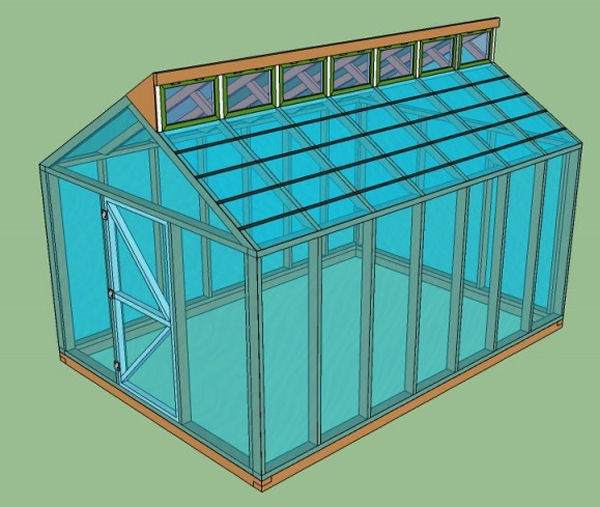 15 free greenhouse plans diy for Greenhouse house plans