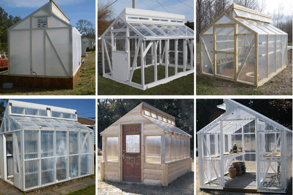 15 free greenhouse plans diy for Small wooden greenhouse plans
