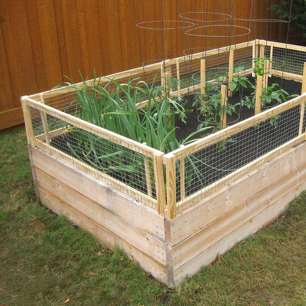 12 diy raised garden bed ideas for Diy patio bed