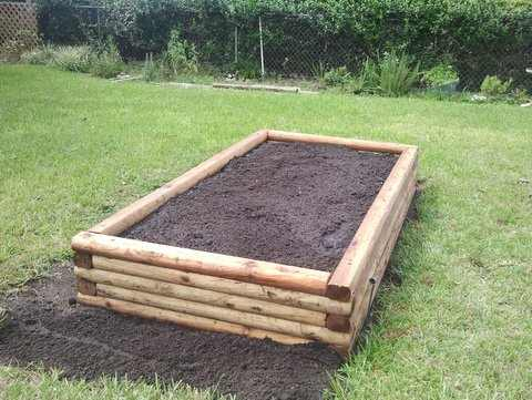 Landscaping Timber Garden Beds