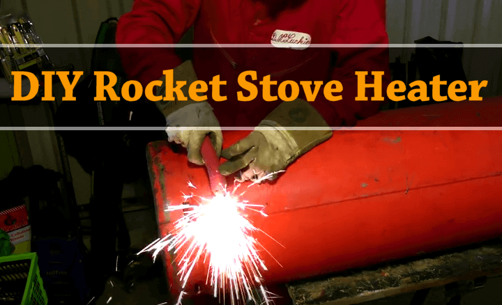 rocket stove heater