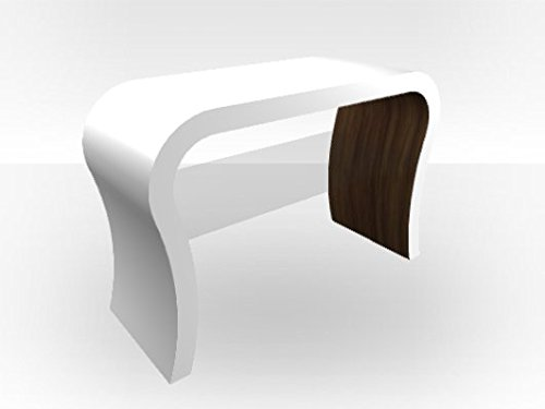 Zespoke White Outer Curved TV Stand