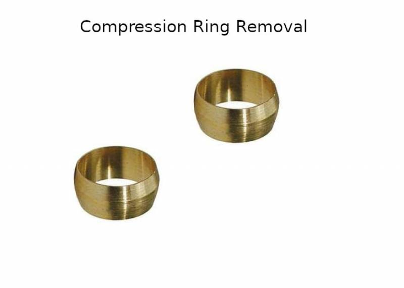 How to remove a compression ring